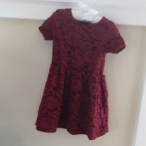 Carter's Burgundy Red Holiday Dress 24 Months